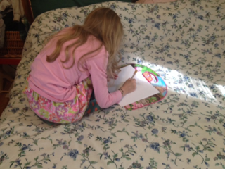 drawing in wait, biding her time