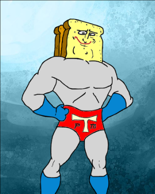 yes, yes, I know--this is technically Powdered Toast Man and not Cinnamon Toast Man. I said, I'm not a good father. Shut up.